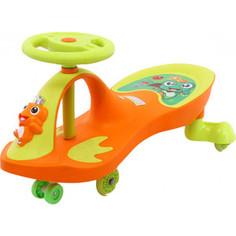 Каталка Bradex Машинка детская с полиуретановыми колесами БИБИКАР-ЛЯГУШОНОК оранжевый