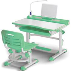Комплект мебели (столик + стульчик) Mealux BD-04 green (с лампой) столешница белая/пластик зеленый
