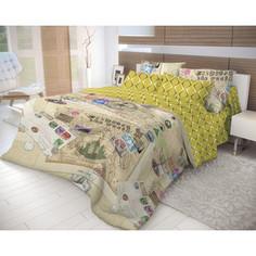 Комплект постельного белья Волшебная ночь 2-х сп, ранфорс, Travel с простынью на резинке, с наволочками 70х70 (716320)