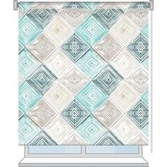 Рулонная штора Волшебная ночь 140x175 Стиль Лофт Рисунок Geometric