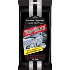 Влажные салфетки Top Gear Авангард для стекол, 30 шт