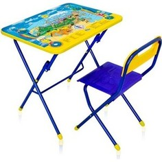 Набор мебели Ника Первоклашка-Осень стол-парта и пластиковый стул (КПУ1/11) Nika