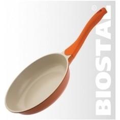 Сковорода d 28 см Biostal (Bio-FP-28 оранж/беж.)