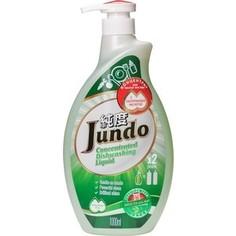Концентрированный гель для мытья посуды Jundo и детских принадлежностей с гиалуроновой кислотой Green tea with Mint, 1л
