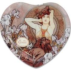 Тарелка в форме сердца Carmani Аметист А. Муха (CAR198-2700-AL)