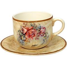 Чашка с блюдцем LCS Элианто (LCS933_T_P-EL-AL)