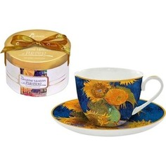Чашка с блюдцем 0.25 л Carmani Подсолнухи (Ван Гог) (CAR2-045-0305-AL)