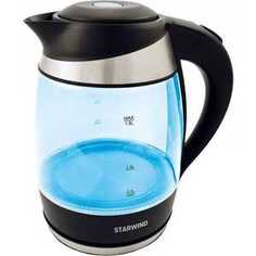 Чайник электрический StarWind SKG2218 голубой/черный