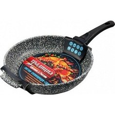 Сковорода-гриль d 26 см со съемной ручкой Традиция Мрамор (ТМ7265)