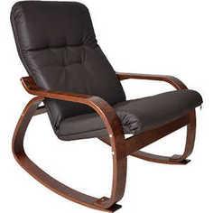 Кресло-качалка Мебель Импэкс Сайма МИ каркас венге, эко кожа, цвет Шоколад