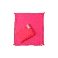 Комплект EKO детский вязанный косички подушка плед беж (KW-03)