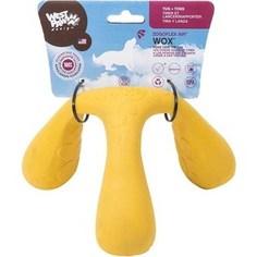 Игрушка Zogoflex Air Wox Large 4 интерактивная желтая для собак 10x15x17см (West Paw Design)