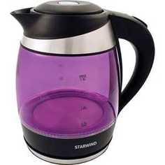 Чайник электрический StarWind SKG2217 фиолетовый/черный