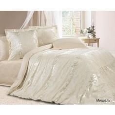Комплект постельного белья Ecotex Евро, сатин-жаккард, Мишель (КЭЕМишель)
