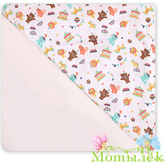 Одеяло-плед Осьминожка (сатин на флисе) 100*100 мишки (мальчик)
