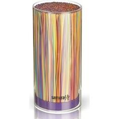 Подставка для ножей универсальная Samura фиолетовая
