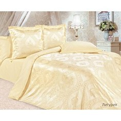 Комплект постельного белья Ecotex Евро, сатин-жаккард, Лигурия(КЭЕЛигурия)
