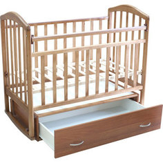 Кроватка Антел Алита-4 маятник/качалка/ящик орех
