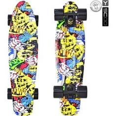 RT 401G-С Скейтборд Fishskateboard Print 22 винил 56,6х15 с сумкой Cartoon