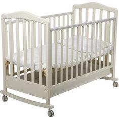 Кроватка Papaloni Винни 120х60см колеса/качалка слоновая кость