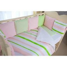 Комплект в кроватку с бортиками-подушками By Twinz 6 пр. Глория