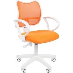 Офисноекресло Chairman 450 LT белый пластик TW-16/TW-66 оранжевый