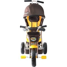 Велосипед трехколесный GALAXY Л001 Лучик с капюшоном коричнево-желтый