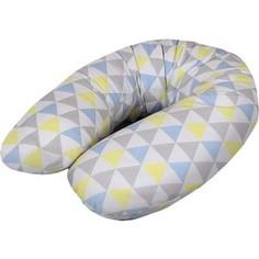 Подушка для кормления Ceba Baby Physio Multi (Себа Беби Физио Мульти) Triangle blue-yellow трикотаж W-741-700-533