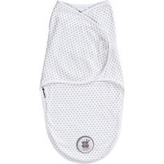 Пеленка-одеяло Candide свободное пеленание, белый с серыми точечками 724440