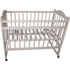 Кроватка МОЙ МАЛЫШ 04 колесо-качалка с наклад опуск планка слоновая кость мм4-4