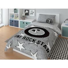 Комплект постельного белья Mickey 1,5 сп, поплин, Rock star (720606)