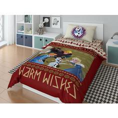 Комплект постельного белья Disney 1,5 сп, поплин, Olaf warm wishies (723649)
