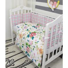 Комплект в кроватку By Twinz с бортиками-подушками 6 пр. Колибри
