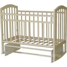 Кроватка Антел Алита 3 а/с, маятник поперечного качания, качалка слоновая кость