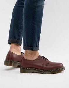 Красные туфли с 3 парами люверсов Dr.Martens original 11838600 - Красный