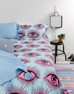 Комплект постельного белья для двухспальной кровати ASOS SUPPLY Eye See You, 200 x 200 см - Мульти