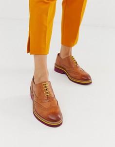 Светло-коричневые кожаные броги ASOS DESIGN Misse - Рыжий