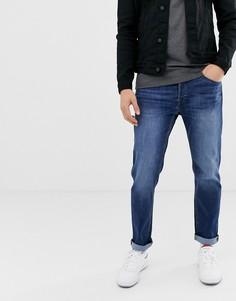 Синие выбеленные прямые джинсы Jack & Jones - Синий