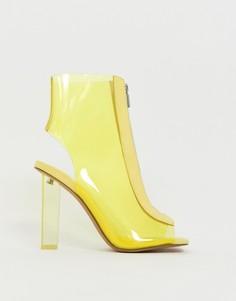 Прозрачные ботинки на каблуке ASOS DESIGN - Желтый