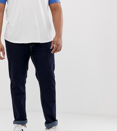 Суженные книзу эластичные джинсы цвета индиго Duke King Size - Темно-синий