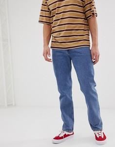 Выбеленные синие джинсы классического кроя ASOS DESIGN - Синий