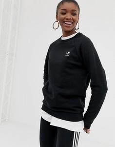 Черный свитшот с круглым вырезом adidas Originals Essential - Черный