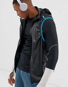 Спортивная сумка со складываемой курткой с капюшоном - взаимозаменяемый дизайн ASOS 4505 - Черный