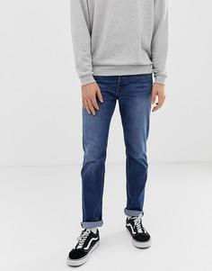 Синие выбеленные джинсы узкого кроя Jack & Jones - Синий