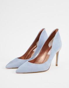 Замшевые туфли на каблуке Ted Baker - Синий