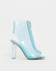 Прозрачные ботинки на каблуке ASOS DESIGN - Синий