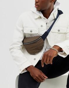 Коричневая сумка-кошелек на пояс River Island - Коричневый