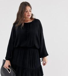 Платье мини с эластичной талией ASOS DESIGN Curve - Черный