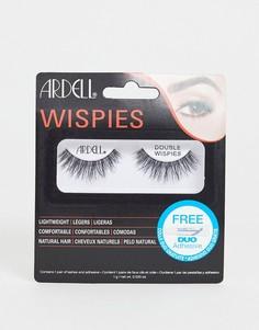 Двухслойные накладные ресницы Ardell Wispies - Черный