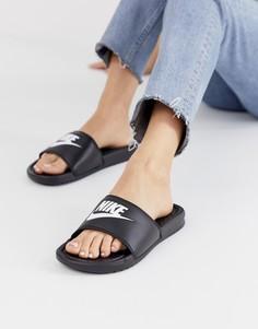 Черные шлепанцы Nike Benassi JDI - Черный